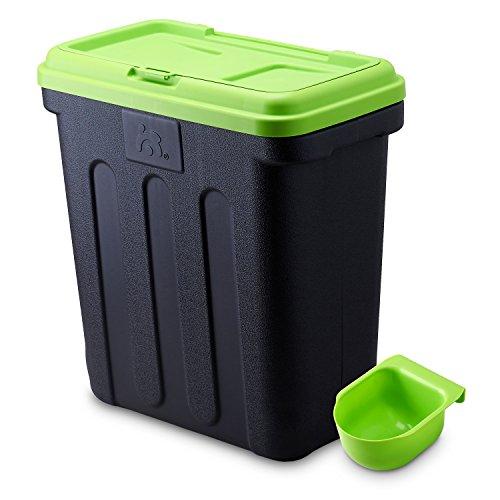 Maelson Dry Box - schwarz / grün - Vorratsbehälter für Trockenfutter, 20 kg