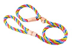 STRONG DOG LEASH: Alvalley Sport slip leads with leather stops are made of soft and strong multifilament rope.