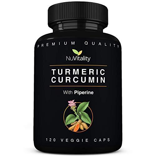 NuVitality Turmeric Curcumin with Piperine, 120 caps