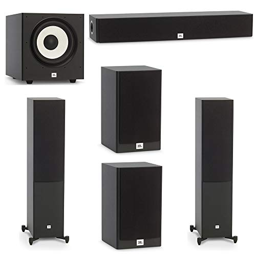 Lowest Price! JBL 5.1 System with 2 JBL Stage A180 Floorstanding Speakers, 1 JBL Stage A135C Center ...
