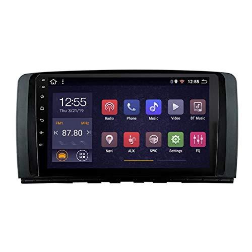 BIEKANNM Lettore multimediale Stereo per Auto Touch Screen da 9 Pollici per Mercedes Benz Classe R W251 R280 R300 R320 R350 R63 2006-2014, FM/Bluetooth/WiFi/SWC/Mirror Link,8core-WiFi: 2+32G