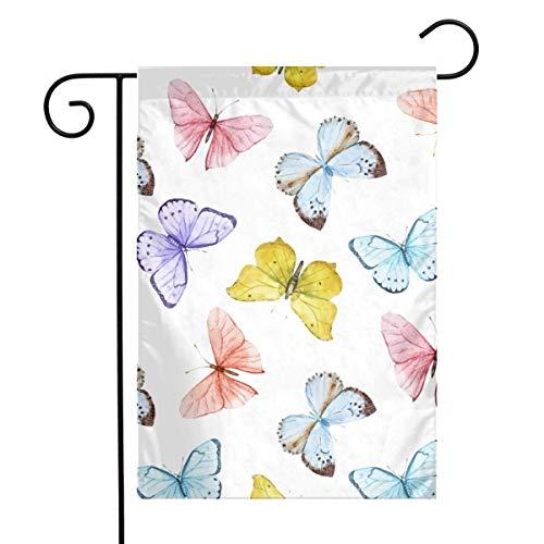 N/A Aquarell-Vektormuster mit schönen Schmetterlingen Nahtlose Tapete Startseite Vertikal Einseitig 12 x 18 Zoll