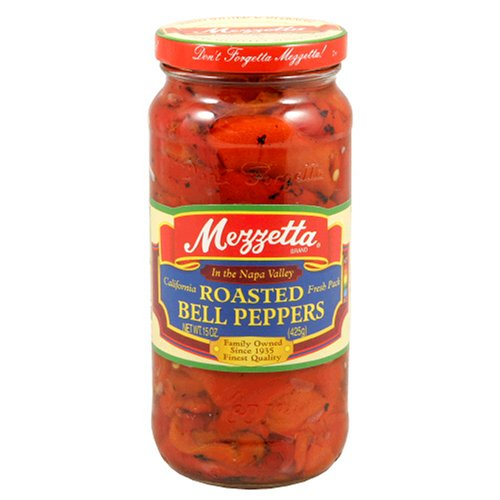 Mezzetta Roasted Red Bell Peppers, 15-Ounce Jars (Pack of 6)