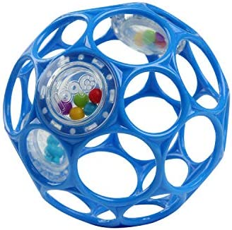Bright Starts Oball Rattle Easy Grasp Toy Blue Ages Newborn Plus product image