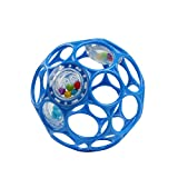 Bright Starts Oball Rattle Easy-Grasp Toy - Blue, Ages Newborn Plus