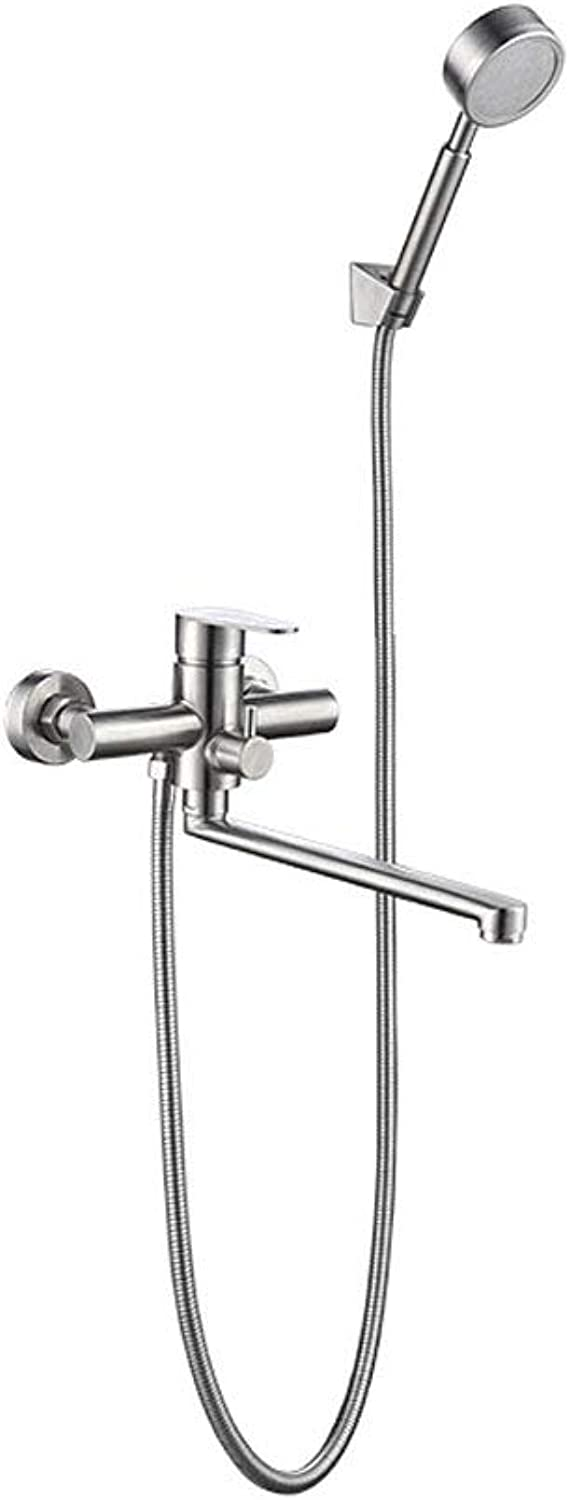 Shower System,Shower Faucet Set,Wall Mounted Shower Set,Double-Function Shower Trim Kit,Chrome