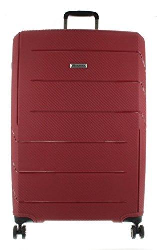 Franky Spinner Gr. L Koffer mit TSA-Zahlenschloss - Extra leichtes Polypropylen Bordeaux