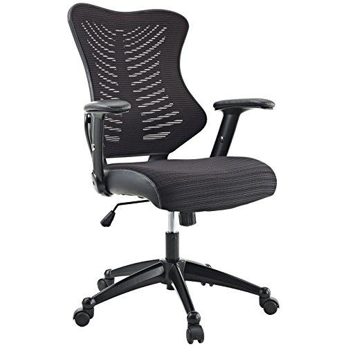 Modway EEI-209-BLK Clutch Ergonomic Mesh Computer Desk Office Chair in Black