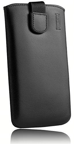 mumbi Echt Ledertasche kompatibel mit Huawei Y3 II Hülle Leder Tasche Case Wallet, schwarz