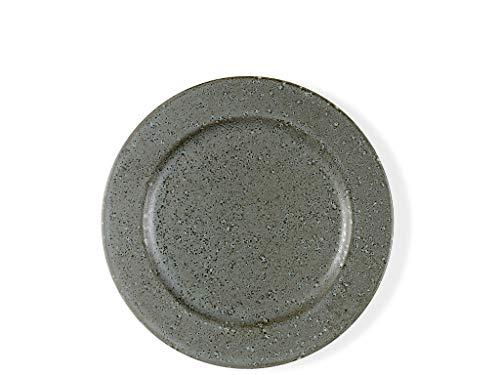 BITZ Teller/Kuchenteller/Dessertteller aus Steinzeug, 22 cm im Durchmesser, grau