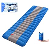 Overmont Extra 4.7in Thickness Sleeping Pad 27in Width Inflatable Camping Mat Ultimate Air Mattress Built-in Pump Waterproof for Backpacking Hiking Travel