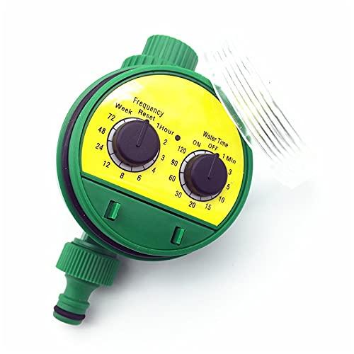 Temporizador de riego 1 PC Inglés Inteligencia electrónica Jardín Sistema de riego del sistema Controlador de temporizador Programas de agua Conexión Resistente al agua y duradero (Color : Green)