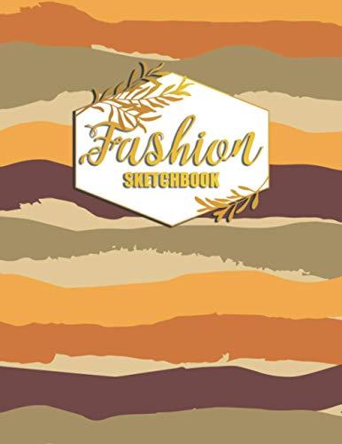 Fashion Sketchbook: Fashion Design Portfolio for Artists and Designers for fashion school students (Men Figure)