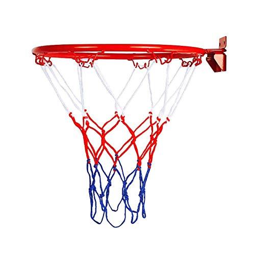 YUNFEILIU Hängender Basketball, Eisenrahmen-Basketballkorb Mit Netz, an Der Wand Montierter Torbügelrand für Kinder Im Freien Langlebiger Basketballkorb, 32 cm Durchmesser