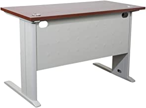 Mahmayi MDF Stazion Modern Office Desk, ME1260APL, Red, H75 x W60 x D120 cm, Require Assembly