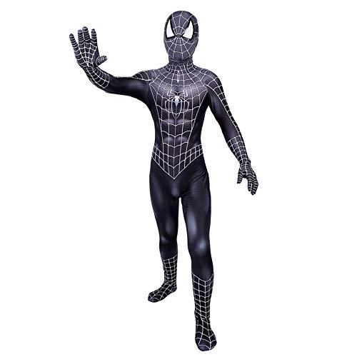 ZYZQ Black Spiderman Cosplay Disfraz The Venom Toby Jumpsuit Body Masquerade Outfit PS4 Superhroe Halloween Carnaval Masquerade Traje,Black-Men~S(155~160cm)
