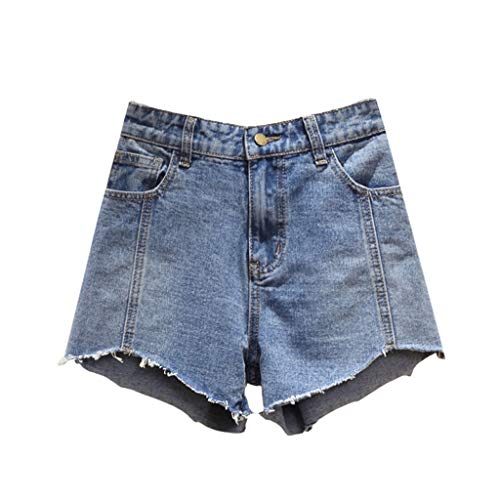 GCX Zomer Plus Size Women's shorts wijde pijpen broek Hot Pants Jeans Sexy (Color : Blue, Size : XXL)