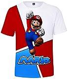 Silver Basic Camiseta de Manga Corta con gráfico de Verano de Super Mario para niños Camiseta de Manga Corta Rojo-3 XXS…