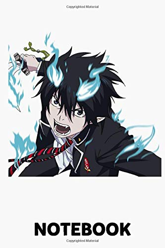 Rin Okumura Ao No Exorcist Blue Exorcist Notebook: (110 Pages, Lined, 6 x 9)