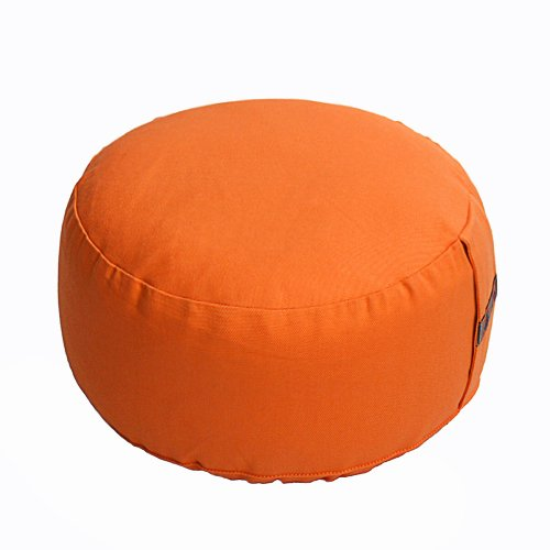 Lotus Design Meditation Cushion, BASIC, High 14 cm, Orange, ca. 2.50 kg by Lotus Design
