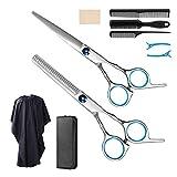 Haarschere Set, 9 Stück scharfes MUSCCCM Friseurschere Set aus Edelstahl, für den Haarschnitt zu Hause, das Trimmen von Tierhaaren und den professionellen Friseursalon
