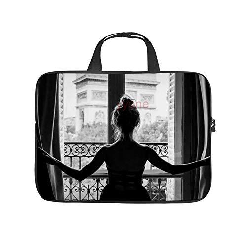 Neoprene Sleeve Laptop Handbag Case Cover Girl in Window 10 Inch Laptop Sleeve Case for 9.7' 10.5' Ipad Pro Air/ 10' Microsoft Surface Go/ 10.5' Samsung Galaxy Tab