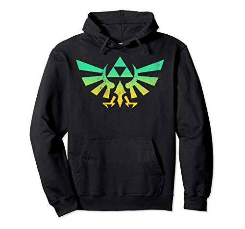 Legend of Zelda Triforce Green Fade Graphic Hoodie