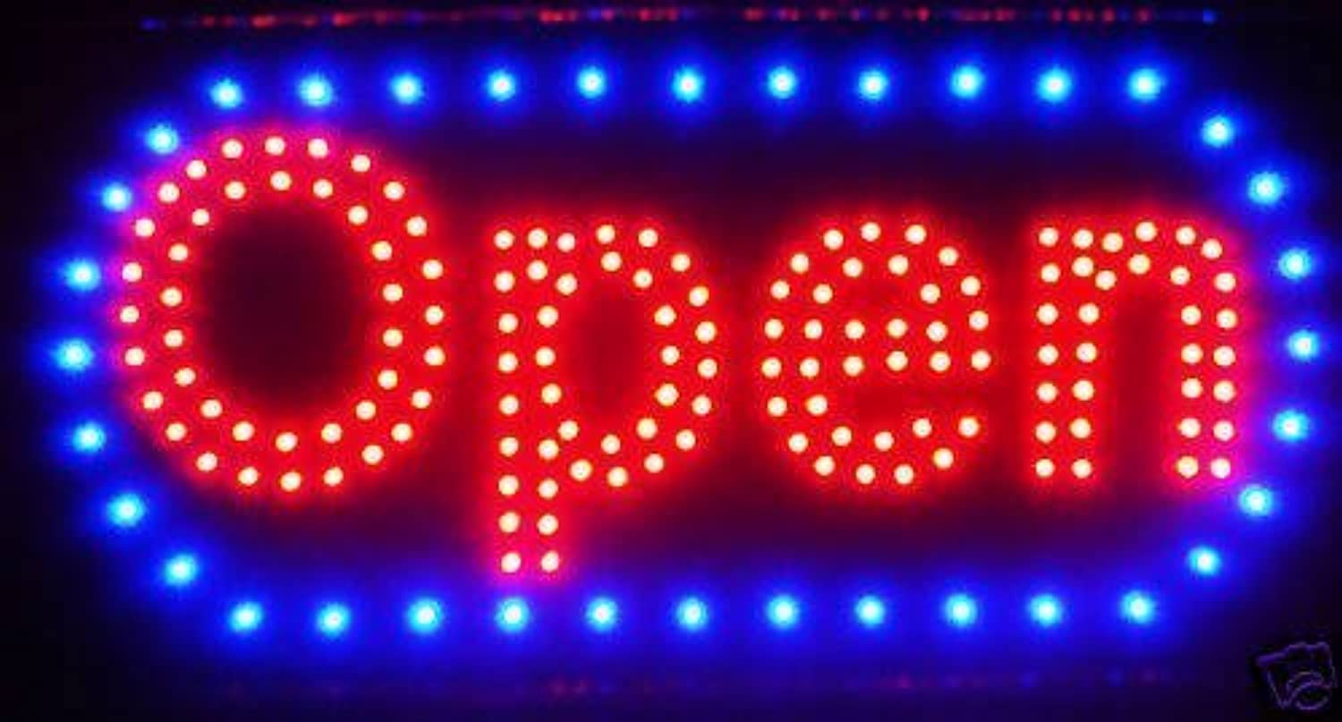 LED Neon Light Open Sign With Animation On off and Power On Off two Switchs for Business By  E Onsale  L46 by e-onsale