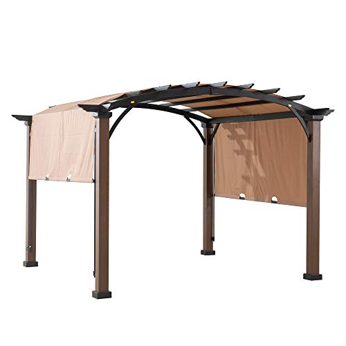 Sunjoy 110109020 Original Replacement Canopy for A+R Woodgrain Pergola (10X10 Ft) L-PG152PST-B Sold at Lowe's, Sesame