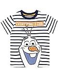 Disney Camiseta de Manga Corta para niños El Reino del Hielo Frozen Multicolor 6-7 Años