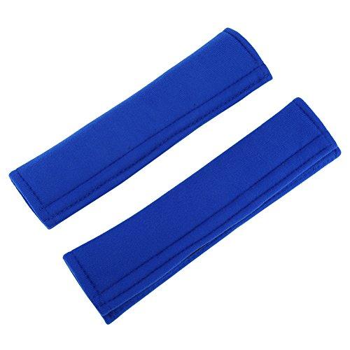 Fdit 2 stks/set auto riem pad cover zachte auto veiligheid riem riem schouderband pad universele auto riem bescherming pads comfortabele kussenhoes voor auto riem rugzak schoudertas (blauw)