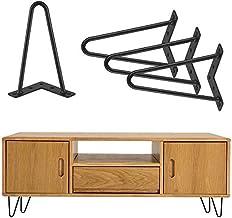 Plankpoten, metaal, haarspeldpoten, 20 cm, poten, tafelpoten, metalen meubelpoten, haarspelden, tafelpoten, tafelonderstel...