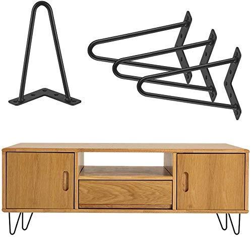 Haarnadelbeine Hairpin Legs 20 cm Möbelfuß Hairpin Tischbeine Couchtisch Metall Schwarz 4 Stück Hairpin Legs Tischbeine Haarnadelbeine Tischgestell für Esstisch Couchtisch Schreibtisch Arbeitstisch