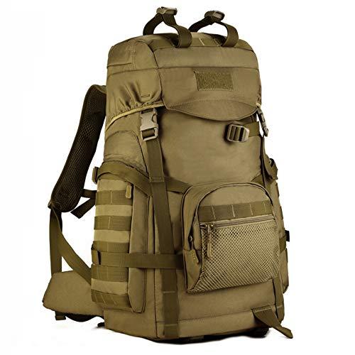 Mochila Táctica Bolsa De Senderismo Militar Impermeable 60L Mochila MOLLE Assault para Trekking Viajar Camping Deportes Al Aire Libre,B