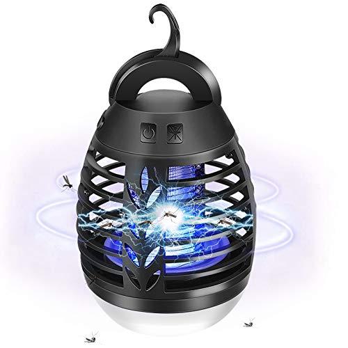 AETKFO Lampada Antizanzare, 2 in 1 Lampada Portatile Antizanzare da Esterno con 3 modalità di Illuminazione Ricaricabile USB, Antizanzare Elettrico Adatto per Giardino, Campeggio, IP67 Impermeabile