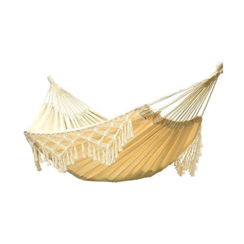 ZXJTX Swing Seat Indoor And Outdoor Swing Canvas Hammock Garden Or Backyard Lightweight Portable White Can Withstand 200kg Play Tents & Preschool Outdoor Toys