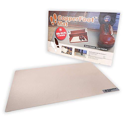 CopperFoot Mat - Real Copper Antibacterial Floor Mat Kills 99.9% of Bacteria ON Contact - EPA 100% Recyclable - Perfect Mat for Kitchen, Entryway, Office, Home, Front Door, Pet Door