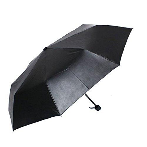 Isabelle paraguas plegable resistente al viento antirradiación Ultraviolet Negro dedans cielo