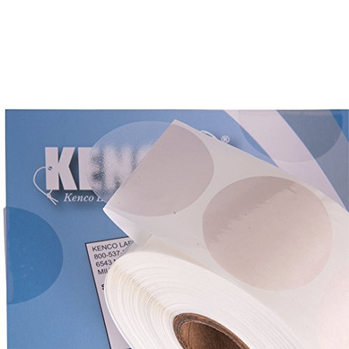 """Clear Wafer Package Seals 1.5"""" Circle Tab Sticker Labels by Kenco (1 Pack (1,000)"""