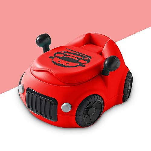 HKANG WC per Bambini Vasini Toilette Design Portatile Removable Facile da Pulire,Red