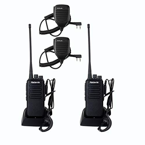 Retevis RT1 Two Way Radios Long Range Rechargeable,Heavy Duty 2 Way Radio for Adults, 3000 mAh VOX Emergency Alarm Walkie Talkie with Mic(2 Pack)