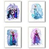 Die Eiskönigin Wanddekoration – Set mit 4 (20,3 x 25,4