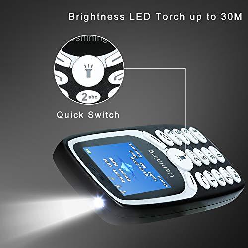 Téléphone Portable Senior, Ukuu 1,8 Pouces Telephone Portable Pas Cher avec Grandes Touches Grand GSM Batterie Grande Capacité Telephone Senior - Noir