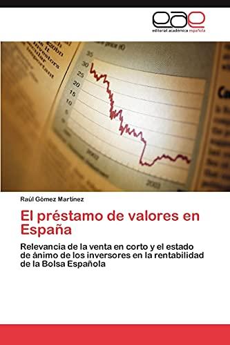 El Prestamo de Valores En Espana
