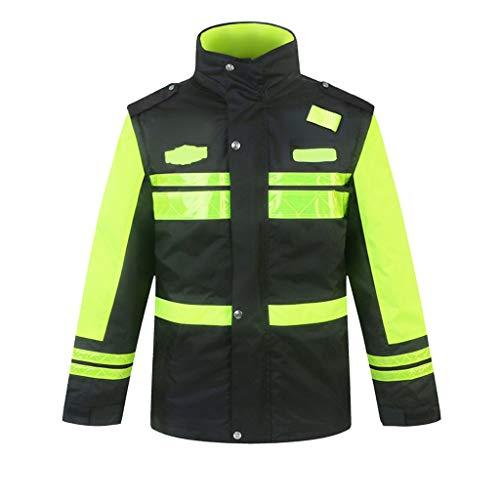 Gilet Antinfortunistici Uomo Abbigliamento Hi-Vis Nero Workwear di Sicurezza Bomber Sicurezza Inverno del Rivestimento del Cappotto Impermeabile con N