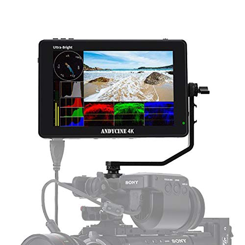 """ANDYCINE C7 Field Camera Monitor 7"""" ultra bright 2200nits 1920x1200 Touch Screen 4K HDMI In/Out DSLR Camera Monitor with Wave Form/Vector Scope/3D-Lut for Sony,Canon,Fujifilm,Panasonic,BMPCC Camera"""