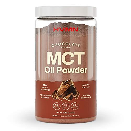 H.V.M.N. MCT Oil Powder - Keto Creamer Powder, for Keto Coffee Creamer, Keto Shake - Pure C8 MCT Oil from Acacia Powder, MCT Oil Keto Diet Powder - 25 Servings(Chocolate)