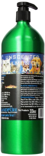 Price comparison product image Iceland Pure Unscented Pharmaceutical Grade Salmon Oil For Dogs and Cats.Bottle Size 33 Ounces