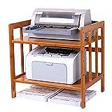 LYMUP Los estantes de la Cocina estantes de Almacenamiento de estantes de Madera for estantes, estantes, Hornos de la Impresora (Size : 80cm×38cm×50cm)