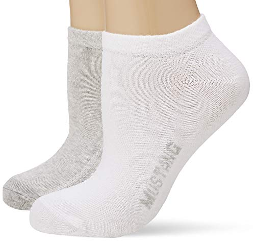 Mustang Socks Damen MU33007 Füßlinge, Mehrfarbig(White Mix 1001), 35/38 (3erPack)